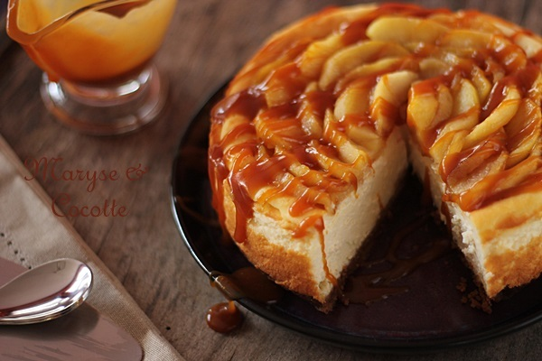 cheese cake aux pommes caramel beurre sal 233 maryse cocotte